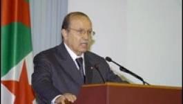Ce matin au Palais des Nations d'Alger :  Bouteflika fait un discours creux
