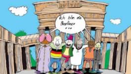 Le  caricaturiste Djamel  Lounis   expose  a  Berlin