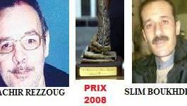 Le prix Benchicou de la Plume libre 2008 attribué à Bachir Rezzoug et Slim Boukhdir