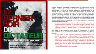 """""""Le dernier soir du dictateur"""" à l'ACB et au théâtre des 3-Bornes"""