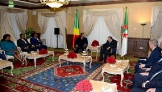 Lors de la réception du président Sassou Nguesso, Bouteflika n'a décroché aucune parole