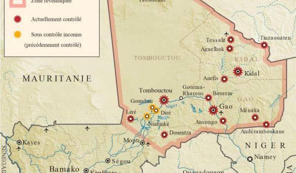 Carte de la région.