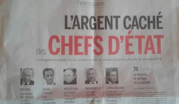 La Une du quotidien français Le Monde dans son édition publiée hier.