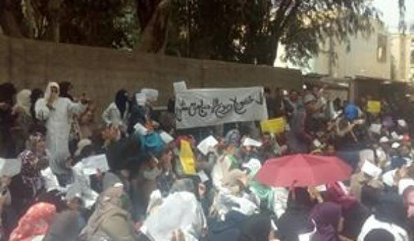 Les contractuels bloqués par les gendarmes à  Boudouaou