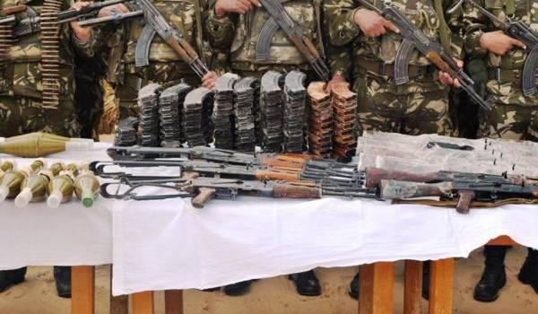 Une importante quantité d'armes de guerre a été récupérée par l'ANP à l'issue de l'opération d'El Oued.