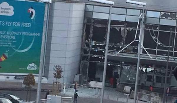 L'intérieur de l'aéroport de Bruxelles.