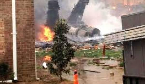 L'avion n'a pas fait de victime.