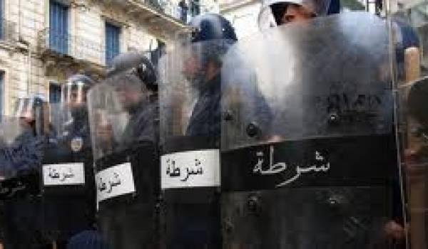 Alger était aujourd'hui quadrillée par un impressionnant dispositif policier.