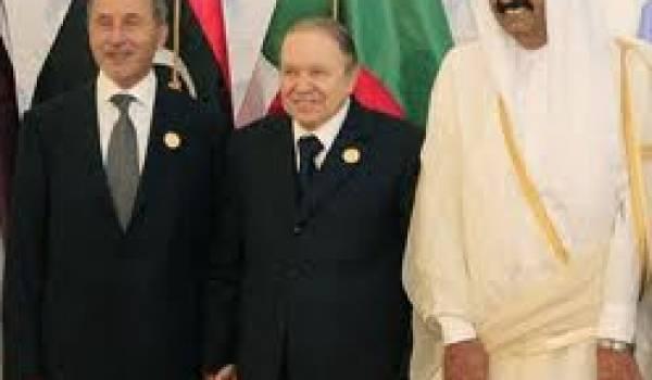 Bouteflika, Abdeljalil et Cheikh Hamad bin Khalifa al-Thani.