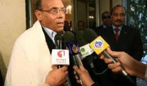 Moncef Marzouki, en tournée maghrébine.