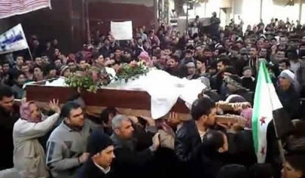 Un enterrement de civils.