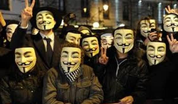 Les Anonymos réputés pour leur lutte contre les Etats totalitaires et les groupes financiers.