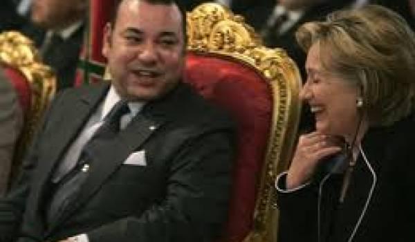 Mohamed VI et Hillary Clinton.