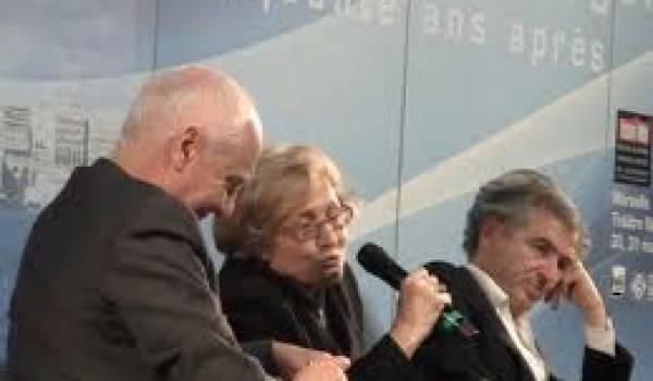 Nicolas Domanech, Zohra Drif et Bernard Henry Levy.