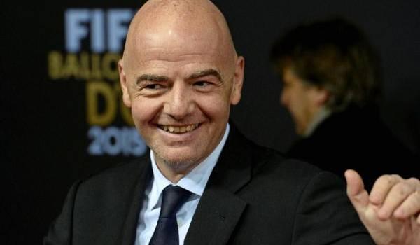 Gianni Infantino nouveau président de la FIFA.