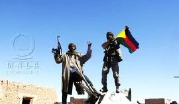 Des combattants du Mouvement de libération de l'Azawad.
