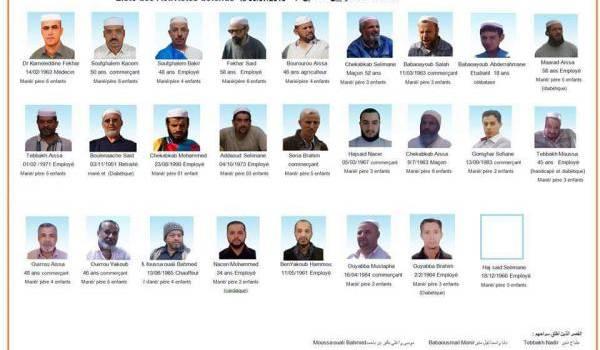 Le Dr Fekhar et les 25 détenus mozabites.