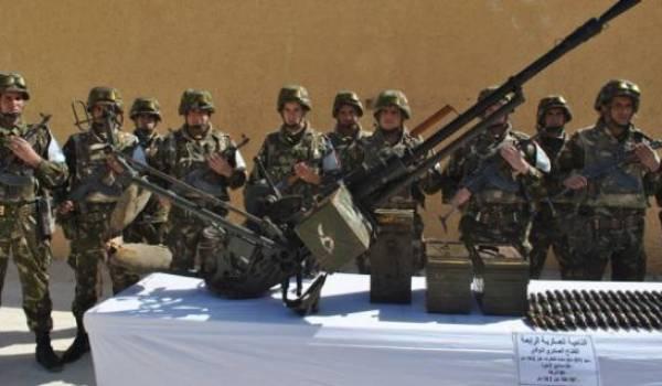 Un important arsenal de guerre découvert à Adrar. Photo archives.