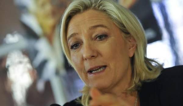 Marine Le Pen, présidente du FN. Photo de François Navarro.