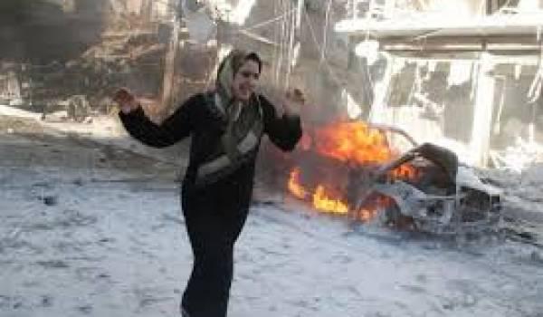 L'aviation du régime a encore commis un massacre de civils.