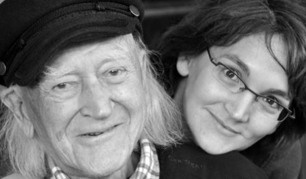 René Vautier avec sa fille Moira.