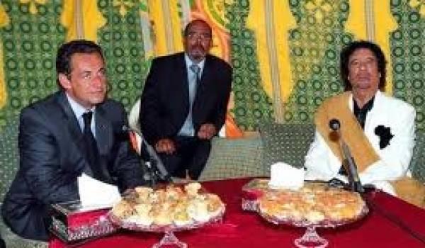 Sarkozy et Kadhafi