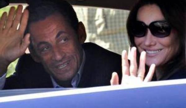 Sarkozy et son épouse au Maroc.