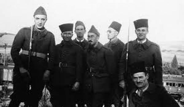 Photo de tirailleurs algériens.