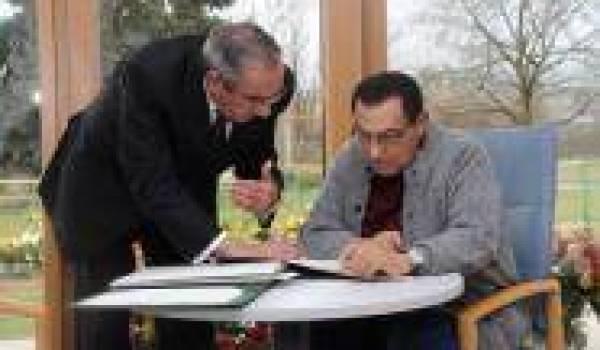 Zakaria Azmi et Moubarak en septembre 2010.