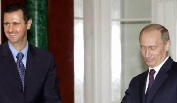 Al Assad avec Poutine