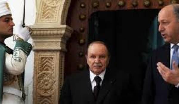 Abdelaziz Bouteflika et Laurent Fabius