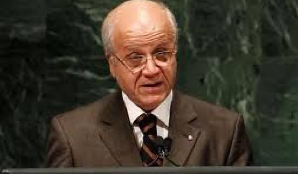 Le chef de la diplomatie algérienne.