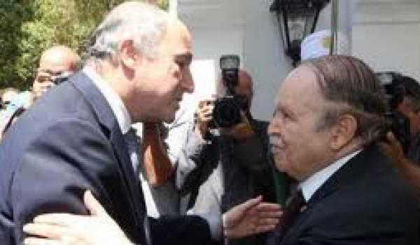 Laurent Fabius et Abdelaziz Bouteflika à Alger