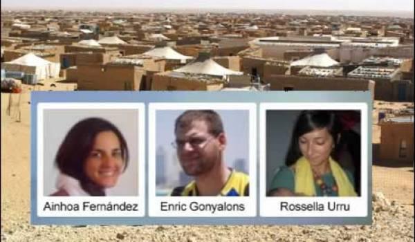 Les trois otages humanitaires libérés mercredi.