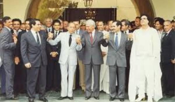 Premier sommet de l'UMA à Alger.