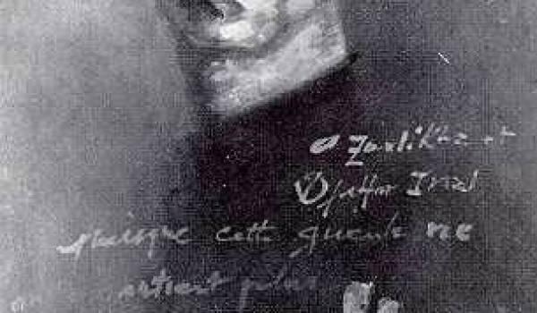 autoportrait. Issiakhem citant Zoulikha Inal