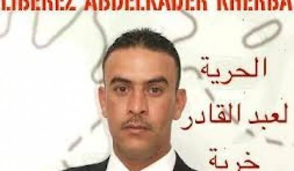 Abdelkader Kherba observe une grève de la faim.