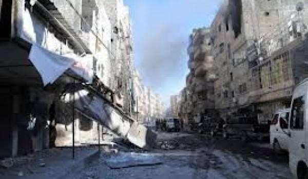 Alep est devenue un champ de ruines sous les bombes.