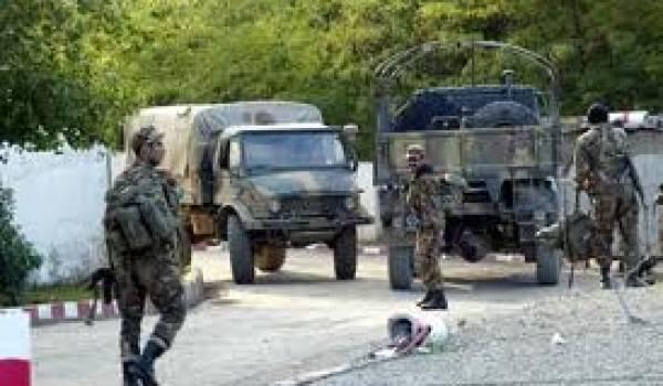 Des soldats  de l'ANP en opération en Kabylie