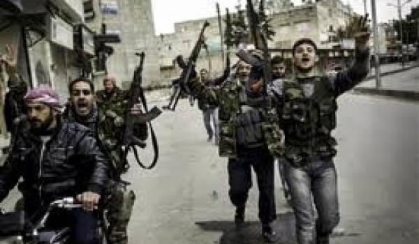 Des rebelles de l'Armée syrienne libre.