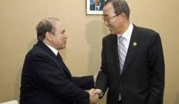 Bouteflika et Ban Ki-moon.