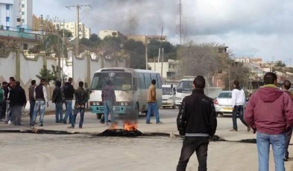La ville de Bouira à l'heure de la protesta