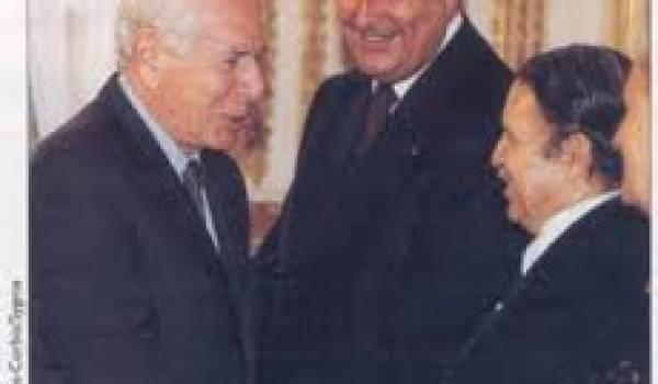 Bouteflika, Jacques Chirac et Jean Daniel