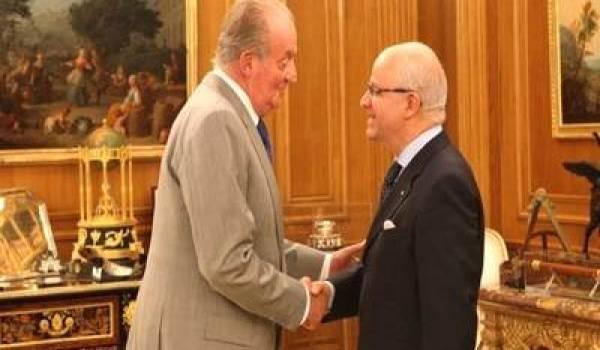 Mourad Medelci avec le Roi Juan Carlos