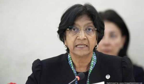 Navi Pillay, haut commissaire de l'ONU.