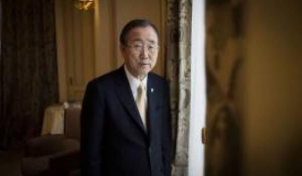Ban Ki-moon, SG de l'Onu.