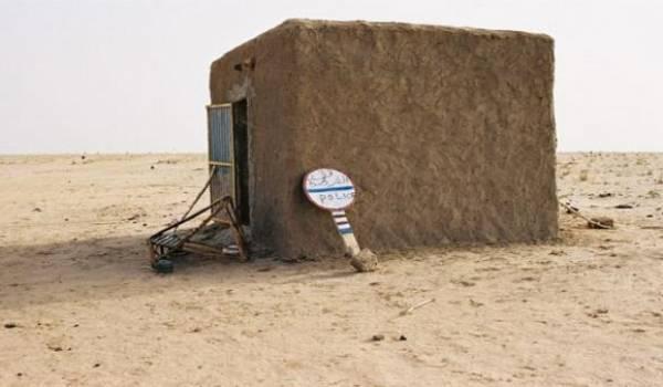 Point de frontière entre la Mauritanie et le Mali.