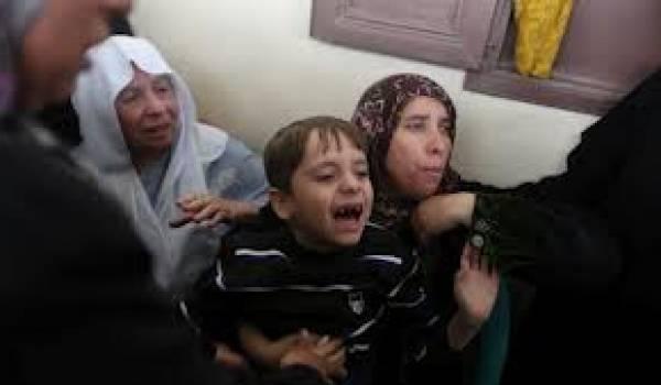 Les enfants et les femmes de Gaza sont horrifiés par les bombardements israéliens.