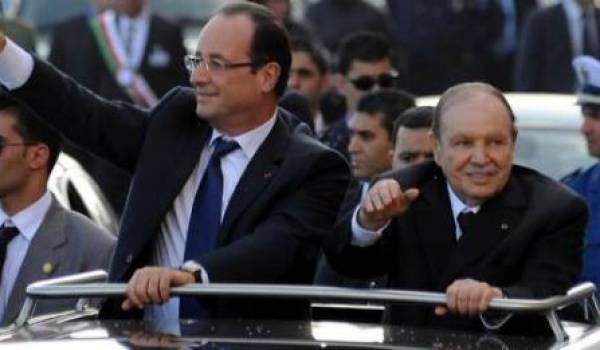 Premier bain de foule de Bouteflika avec Hollande