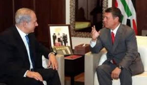Le premier ministre israélien et le roi de Jordanie.